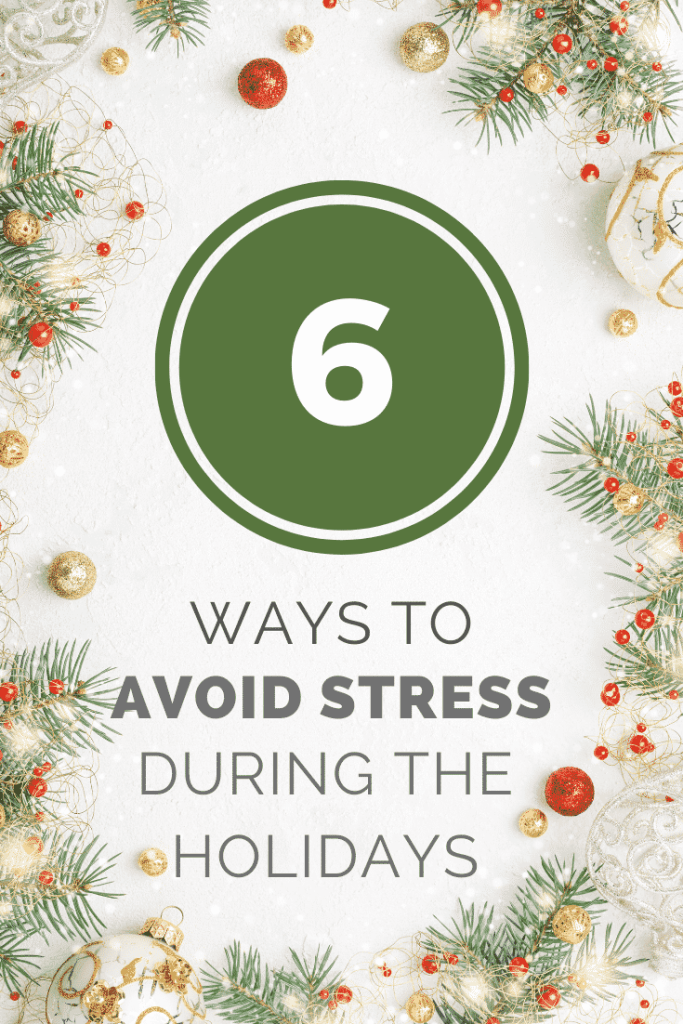 avoid stress during holidays