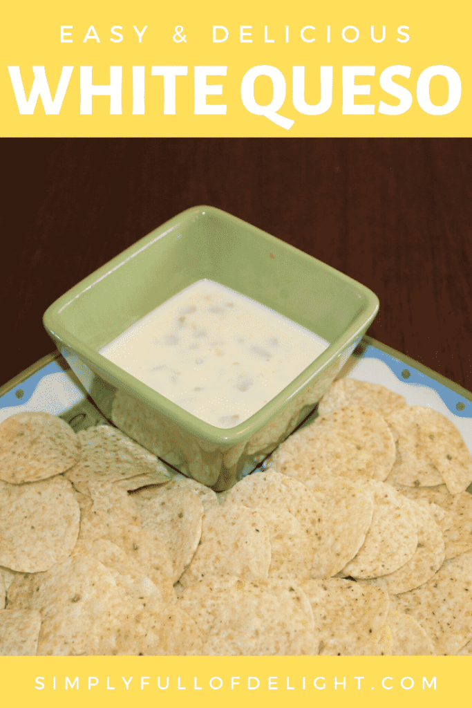 Easy and Delicious White Queso - Make it tonight!  #easyappetizers #appetizers #superbowl