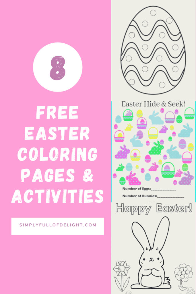 8 Free Easter Coloring Pages & Activities - Quickly download and print some awesome activity sheets for kids - items appropriate for toddlers, preschoolers and kids grades K-5.  #spring #easter #freecoloringpages