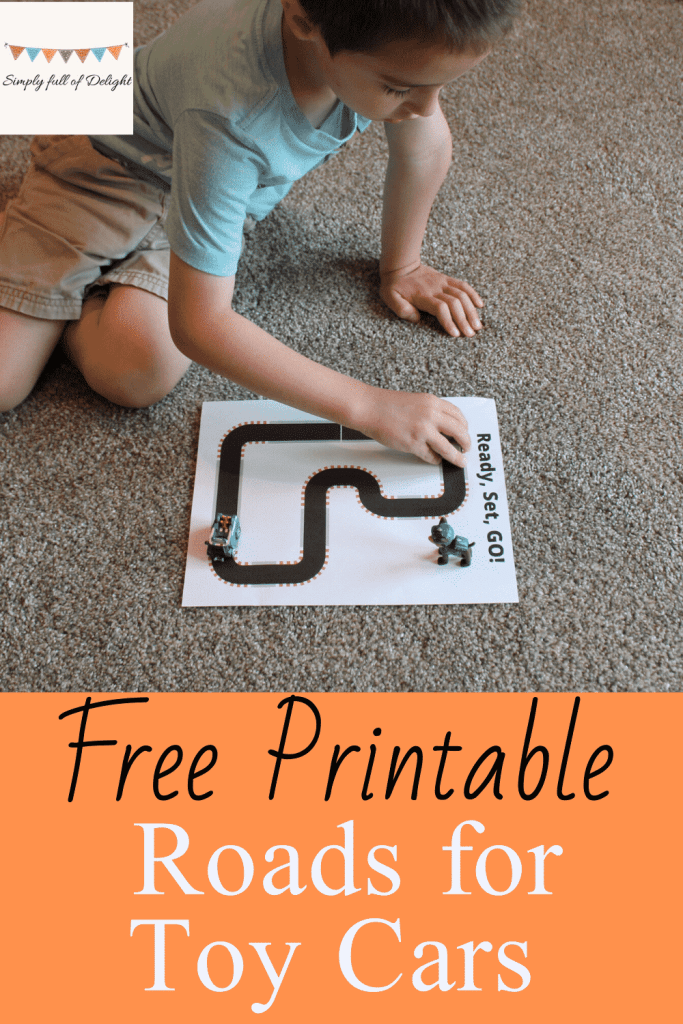 Free Printable - Roads for Toy Cars - the race track
