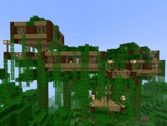 minecraft jungle houses treehouse tree modern survival designs cool cute easy simple food forest creations building trees visit architecture epic