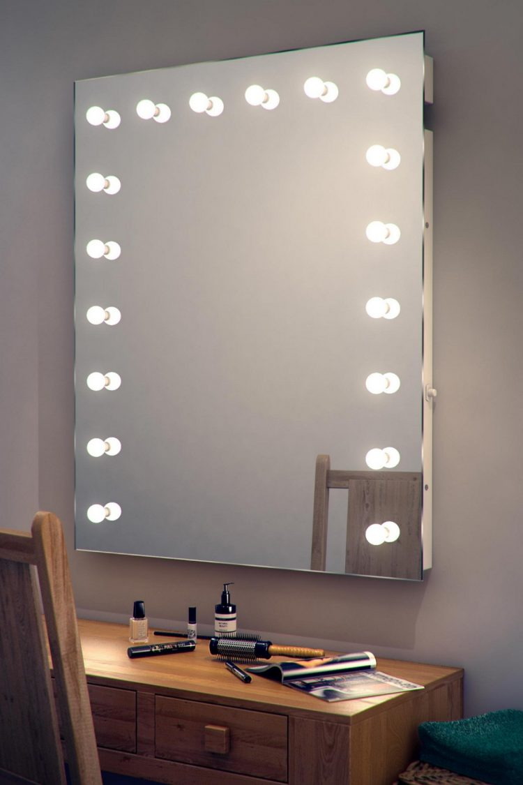 DIY Vanity Mirror With Lights for Bathroom and Makeup Station