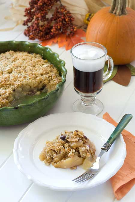 gluten free pear cranberry almond crumble recipes blog
