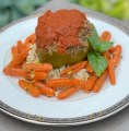 Lentil Suffed Green Pepper with Tomato Sauce