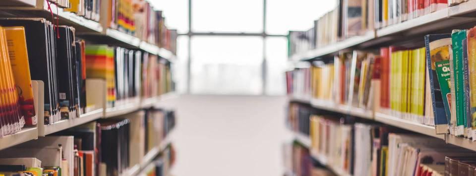książki pełne cytatów na półkach