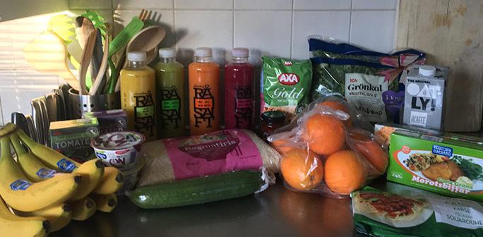 Bild på matvaror