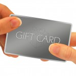 Giving Gift Card: Hands Passing Gift Card