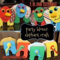 E is for Elephant: Party Blower Craft