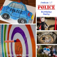 Joshua 1:7 Police Birthday Party With Free Printables