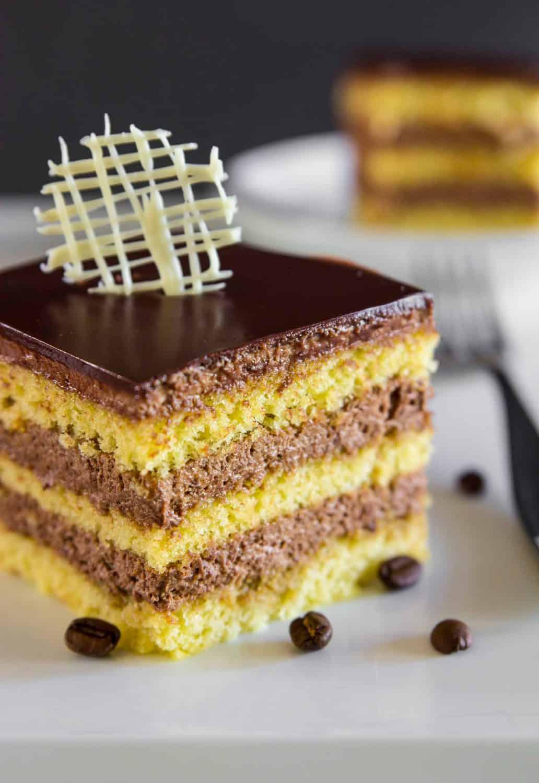 Easy Opera Cake Recipe - Simply Home Cooked