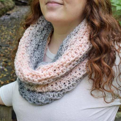 Winding Ridges Cowl by Janet @ Simply Hooked by Janet