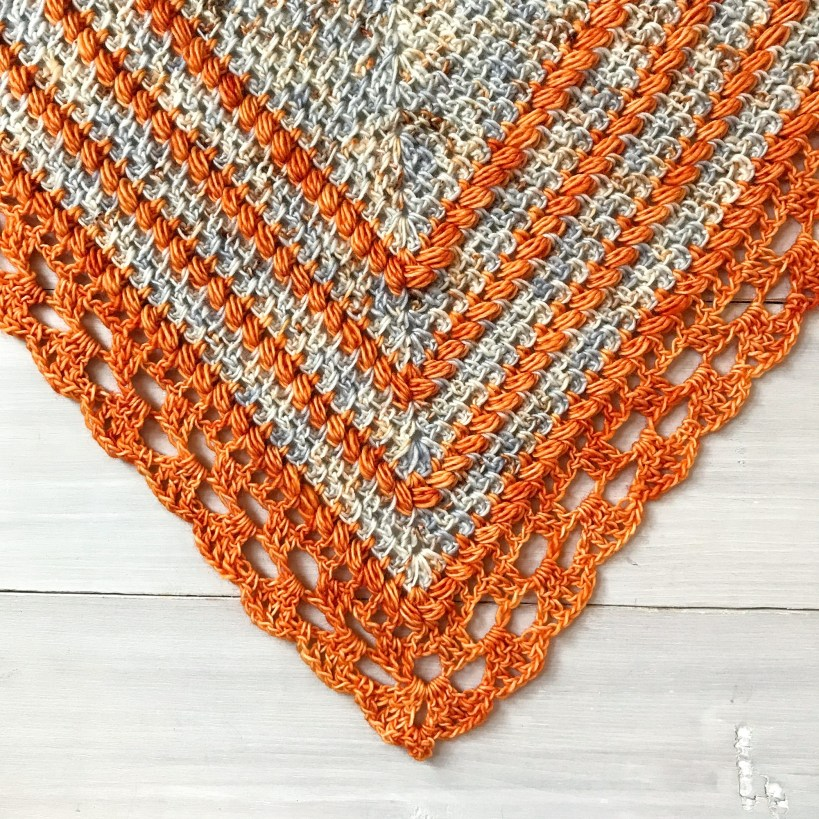 textured stitches in the seaside shawl crochet pattern