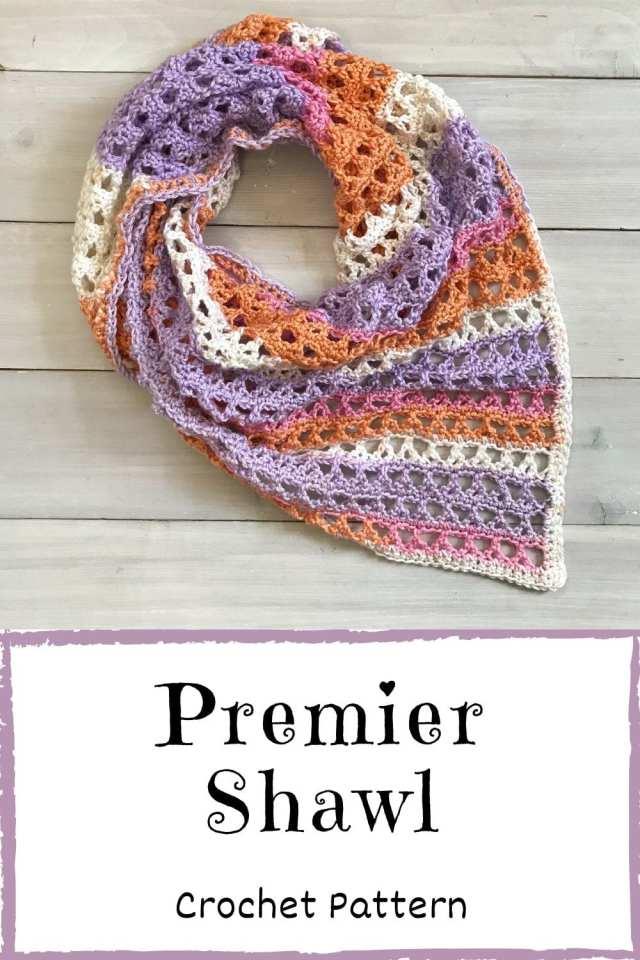 premier shawl crochet pattern pinterest image