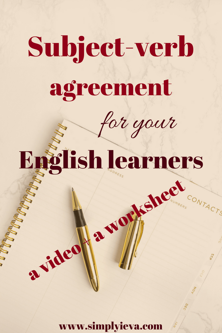 Quick And Easy How To On Subject Verb Agreement For Eslell Simply