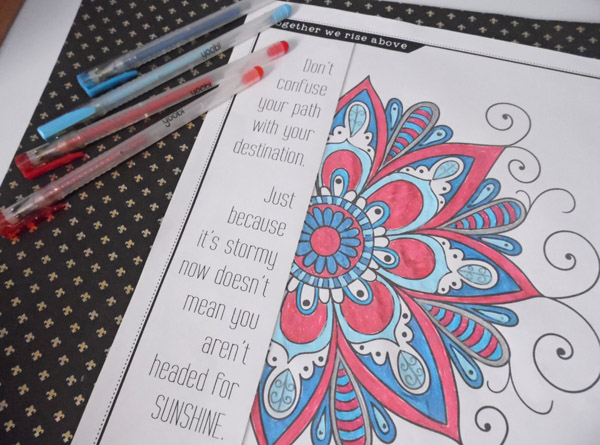 Free Coloring Book From The Togetherness Project Monochromatic Color Scheme On A Budget