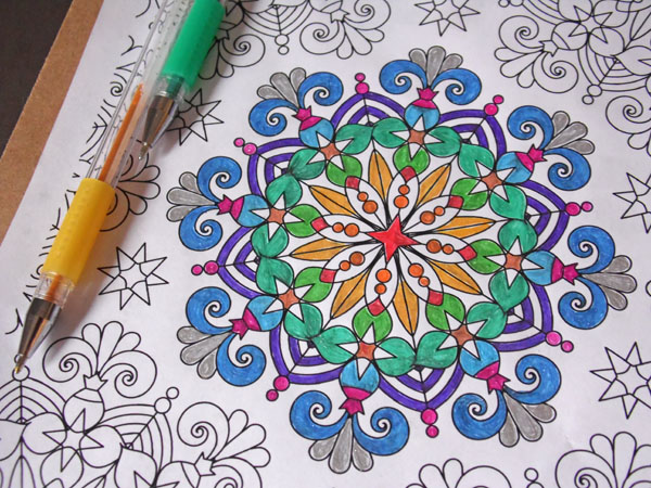 gel pen free coloring book