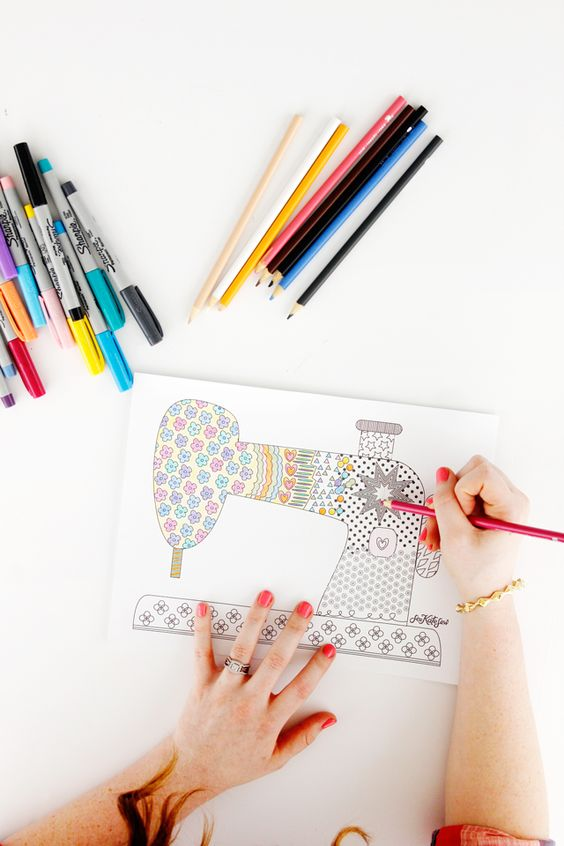 free sewing coloring pages