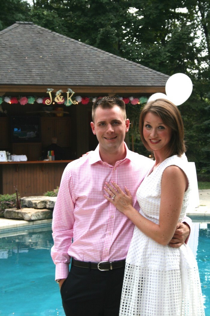Throwing a backyard engagement party