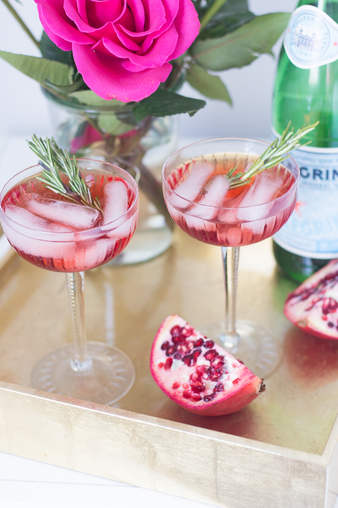 Rosemary Pomegranite Christmas Cocktail
