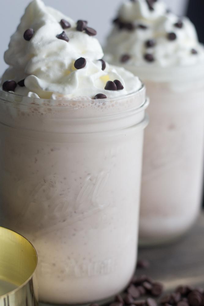 Frozen Hot Chocolate Milkshakes