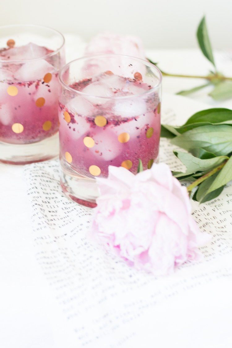 Sparkling Raspberry Blueberry Mocktail