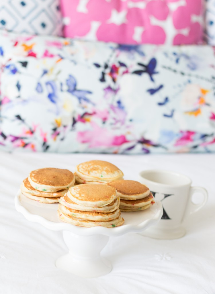 Silver Dollar Funfetti Pancakes