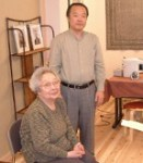 Chiyoko and Tadao Yamaguchi at the Jikiden Reiki Institute in Kyoto, Japan