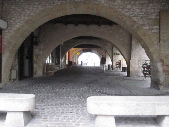 Medieval walkways in the town Saint-Foy.