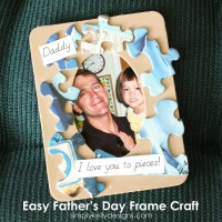 Easy Father's Day Frame Craft by Simply Kelly Designs #fathersday #craftingwithkids