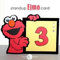 Standup Elmo Birthday Card by Simply Kelly Designs