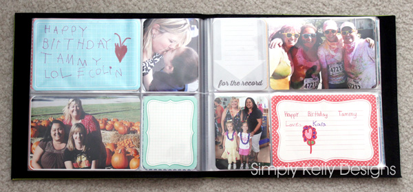 40th Birthday Guestbook Using Project Life by Simply Kelly Designs