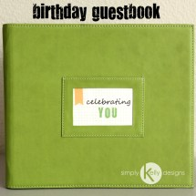 40th Birthday Guestbook Project Life