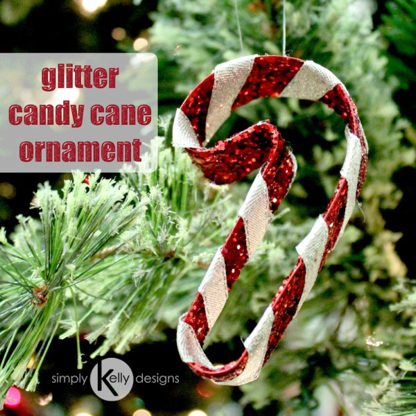 Create this glitter candy cane ornament to add some bling to your tree
