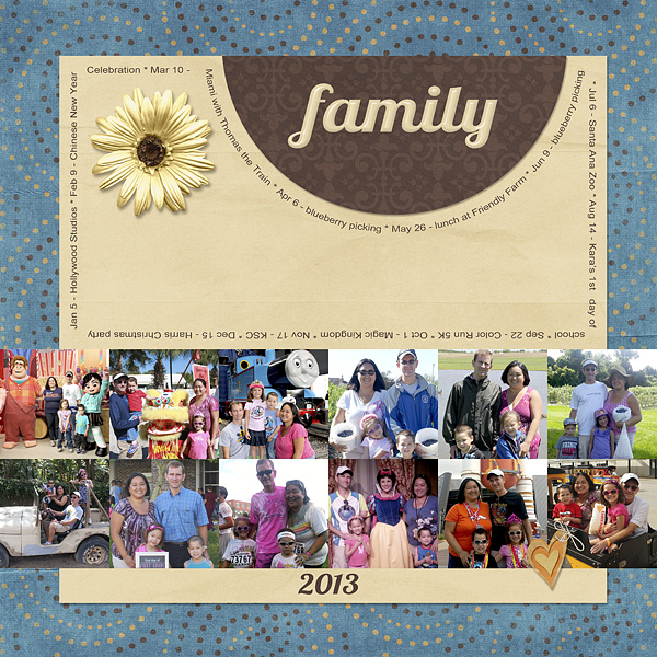 2013 Year In Review Layout Inspiration: Family Photos