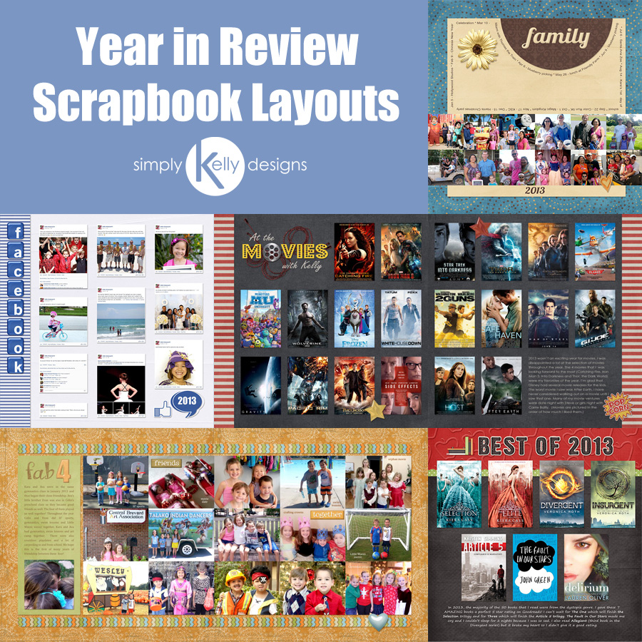 year in review scrapbook layout inspiration