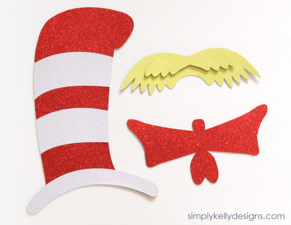 DIY Dr. Seuss Photo Booth Props by Simply Kelly Designs
