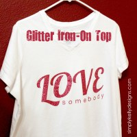 February Silhouette Challenge: Glitter Iron-On Top