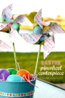 DIY Easter Pinwheel Centerpiece With Free Cut File