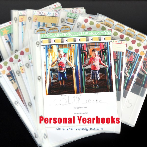 Preschool Personal Yearbooks by Simply Kelly Designs