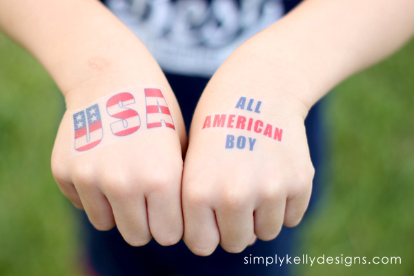 Learn how to create your own DIY temporary tattoos from Simply Kelly Designs