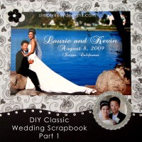 DIY Classic Wedding Scrapbook by Simply Kelly Designs #wedding #blackandwhite #scrapbooking