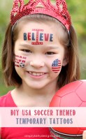 DIY USA Soccer Themed Temporary Tattoos by Simply Kelly Designs #WorldCup #USMNT #1Nation1Team #IBelieve #emporarytattoos #soccer #patriotic