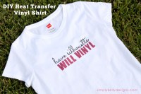 DIY Heat Transfer Vinyl Shirt: Have Silhouette Will Vinyl by Simply Kelly Designs #Silhoeutte #HTV #Silhouette Challenge