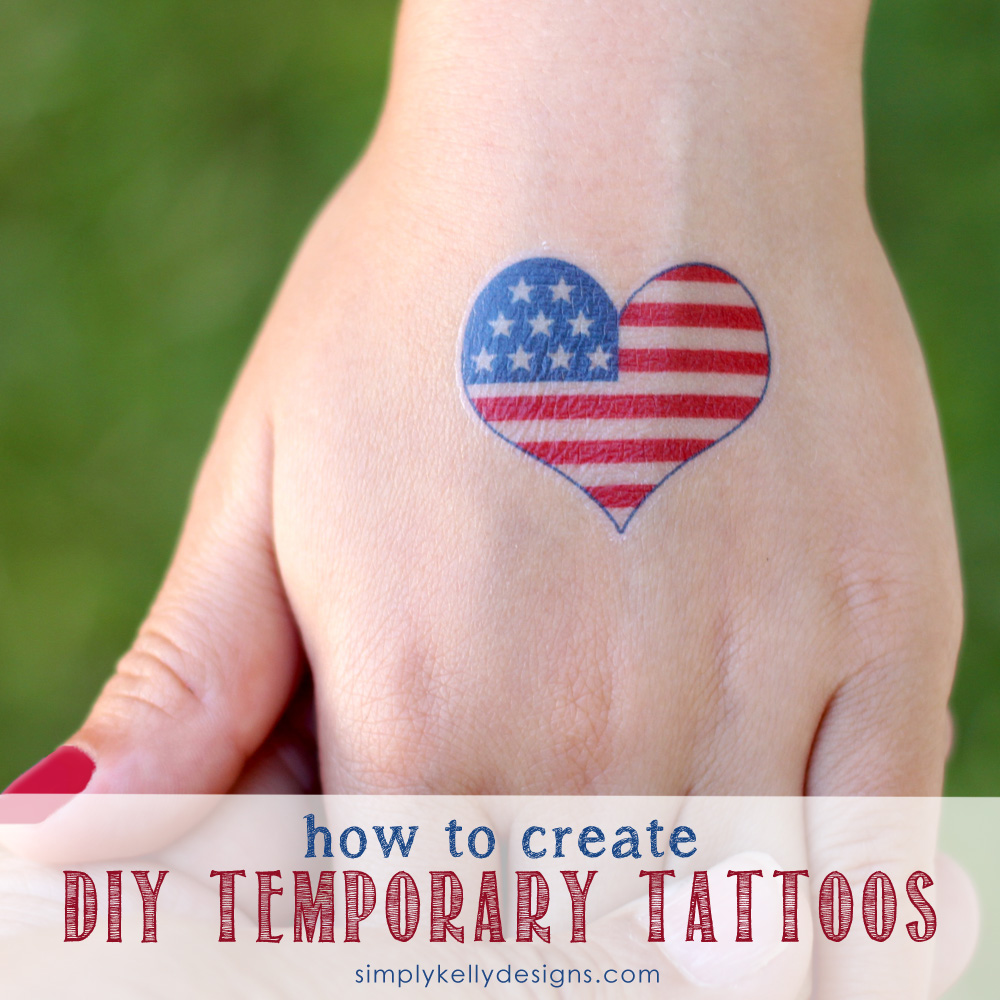 how to create diy temporary tattoos. Black Bedroom Furniture Sets. Home Design Ideas