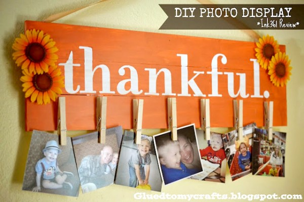 DIY Photo Display by Glued To My Crafts