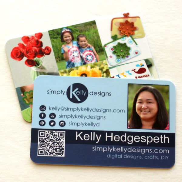 Business Cards With QR Code by Simply Kelly Designs