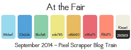 At the Fair Blog Train Color Swatch