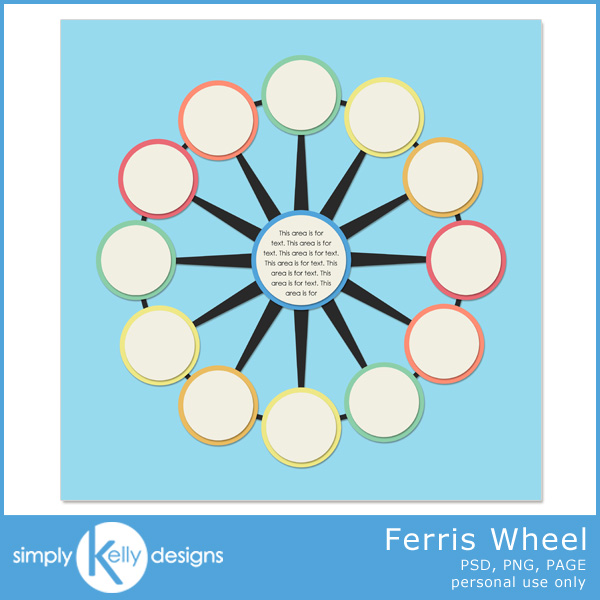 Ferris Wheel Template by Simply Kelly Designs #digiscrap #template #blogtrain