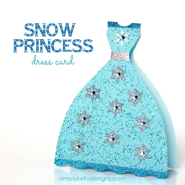 Glittery Snow Princess Card by Simply Kelly Designs #princess