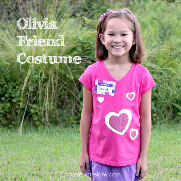 Olivia Friend Heart Shirt With Free Cut File by Simply Kelly Designs #LEGO #LEGOFriends #Silhouette #HTV #Hearts #Olivia #Halloween #DIYCostumes
